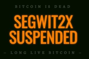 bitcoin SegWit2x SUSPENDED