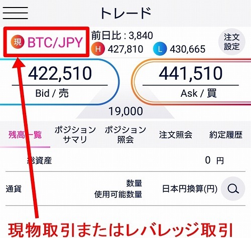 DMM Bitcoin:仮想通貨のトレードの仕方