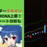 仮想通貨トレーダータキオン 5月mona上昇 6月チャート分析