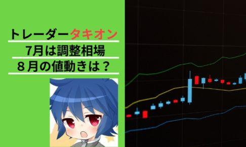 トレーダータキオン 調整相場 ビットコイン 価格予想 BTC 仮想通貨