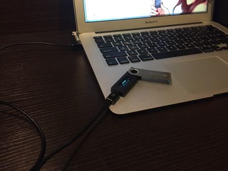 ハードウェアウォレットLedger Nano S 接続