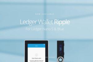 ripple ウォレット ledger nano s